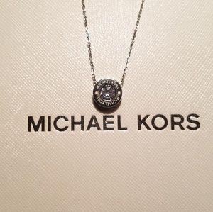 Michael Kors logo crystal necklace